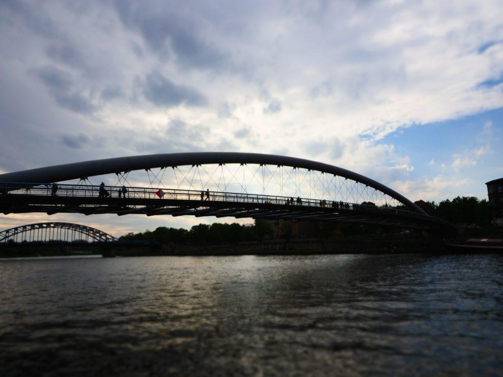 Bernatek foot bridge, Krakow. Image: Alison Binney