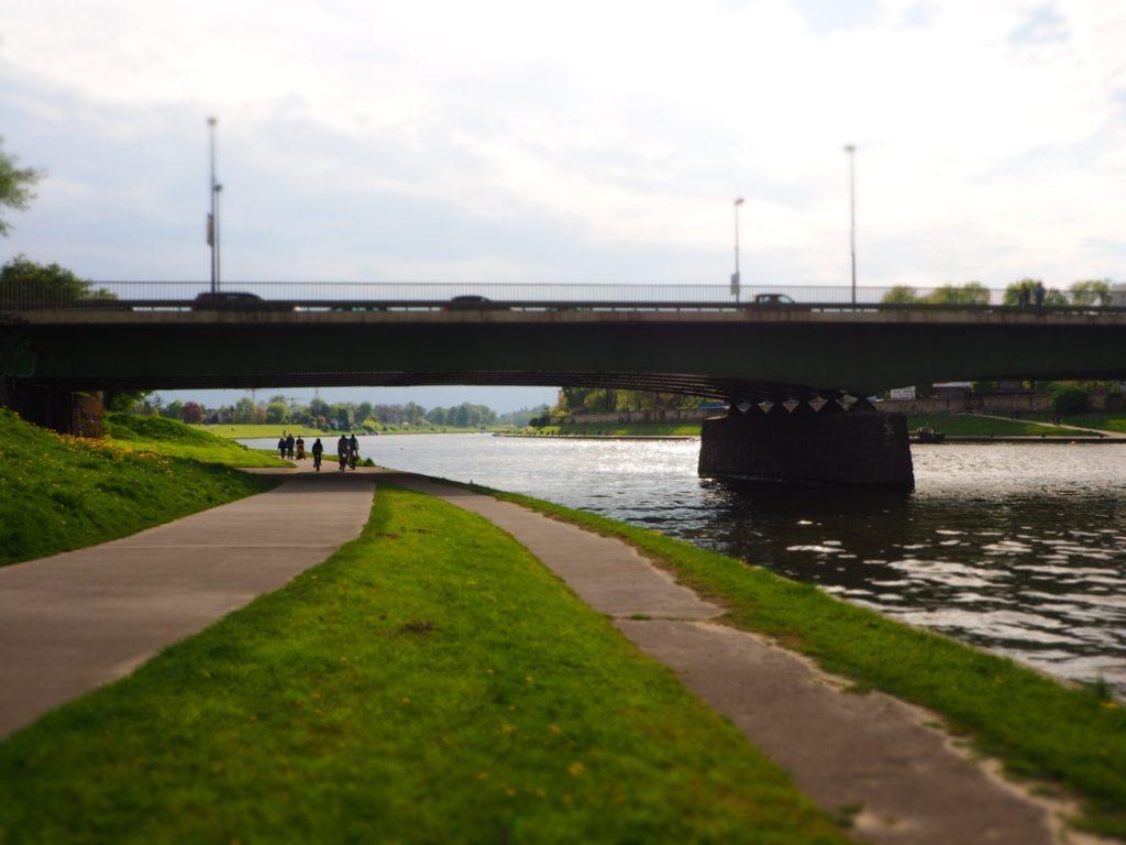A bridge in Krakow called Most Dębnicki. Image: Alison Binney