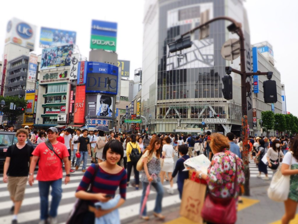Shibuya scramble crossing, Tokyo. Image: Alison Binney