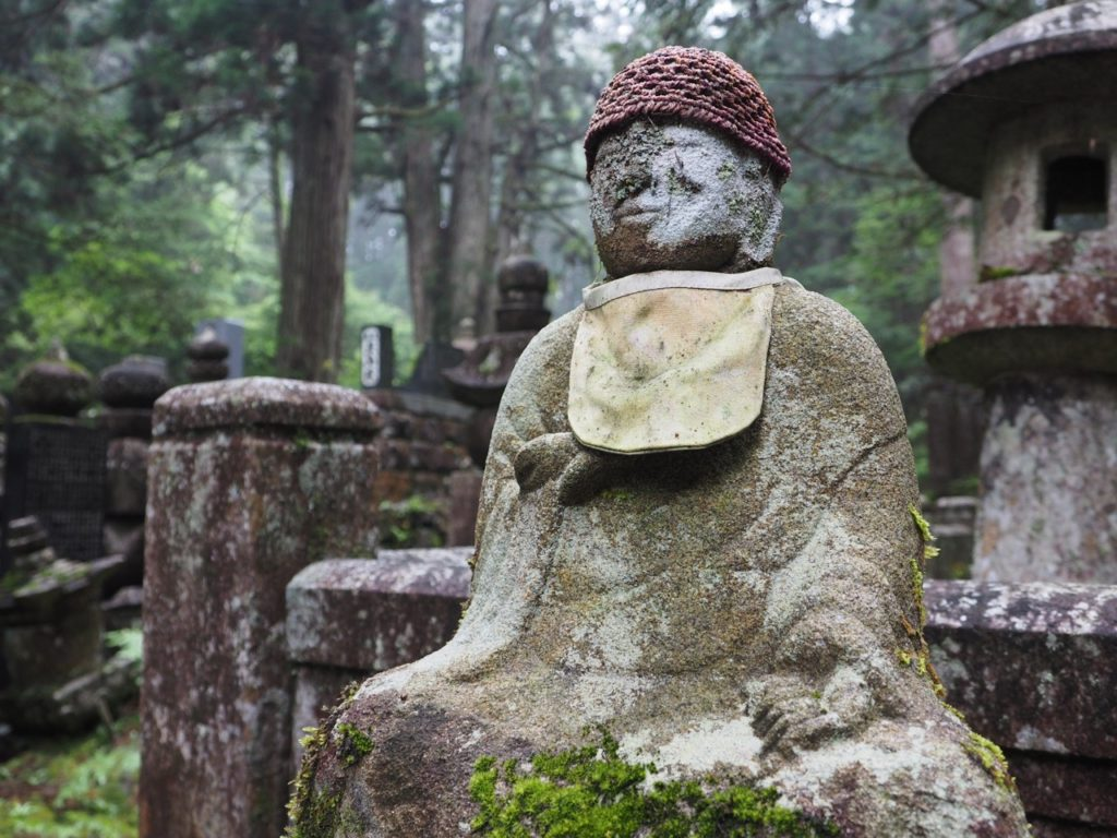 Okunoin Cemetery at Mount Koya in Japan. 'Jizo' statues are believed to protect children, women and travellers. Image: Alison Binney