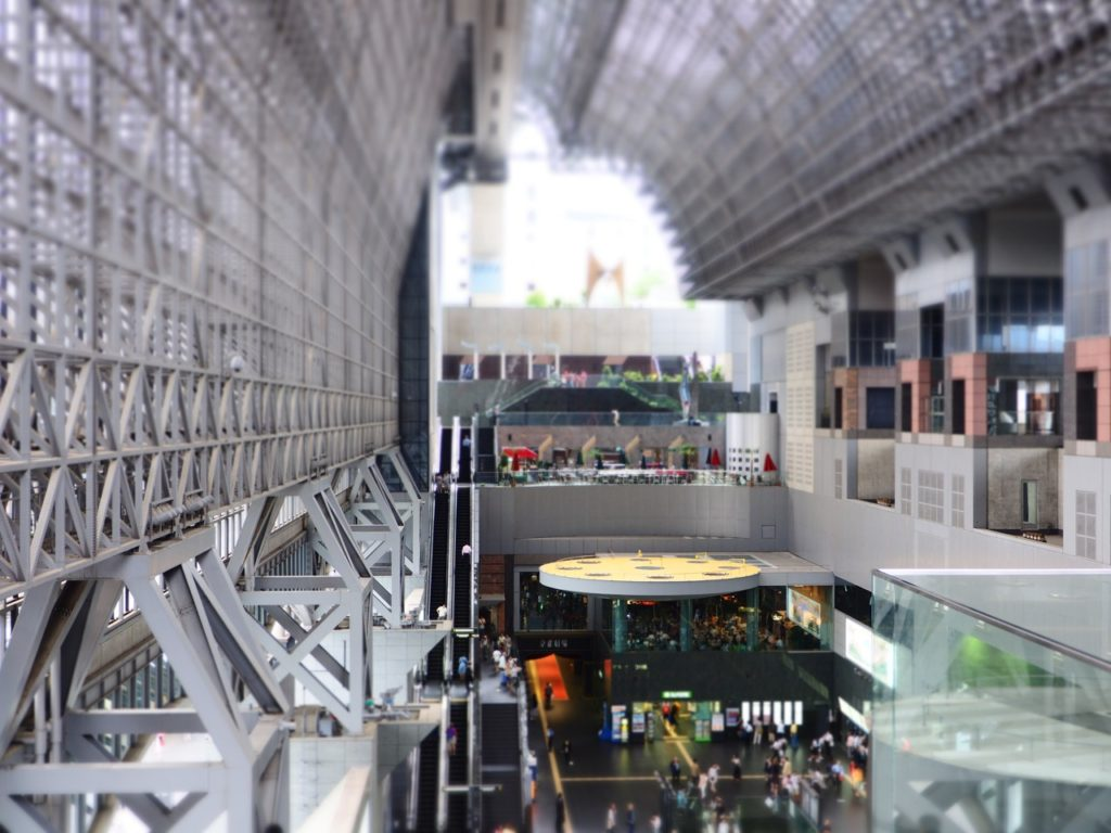 Kyoto Station, the city's hub for trains and buses, was built by Japanese architect Hara Hiroshi. Image: Alison Binney