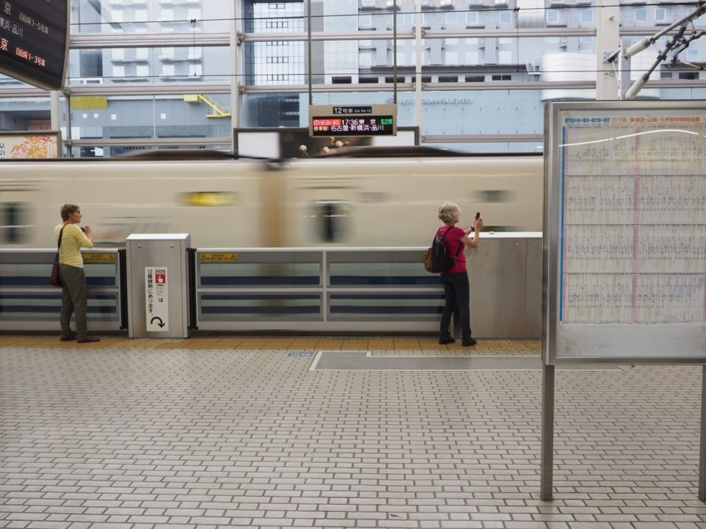 Japan's high speed trains (bullet trains) are called shinkansen. Image: Alison Binney