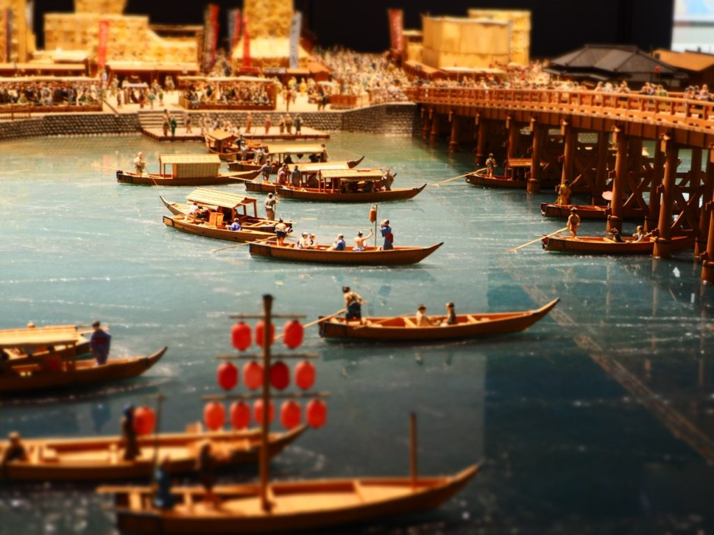Impressions from the permanent exhibition at the Edo-Tokyo Museum in Japan