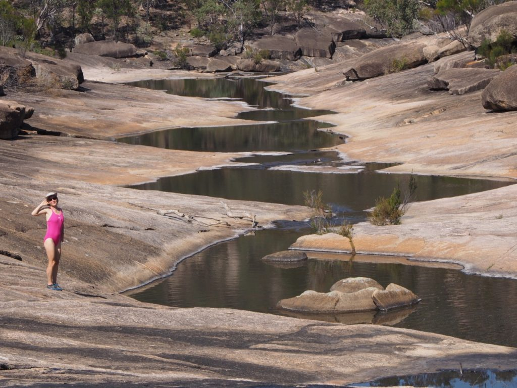 Swim at the Junction. Girraween National Park. Image: Alison Binney