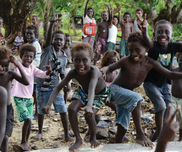 Roviana lagoon region in Solomon Islands