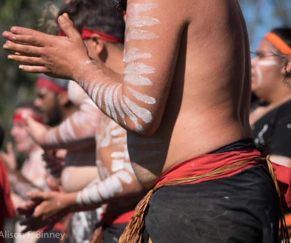 Indigenous dancers at NAIDOC day celebrations