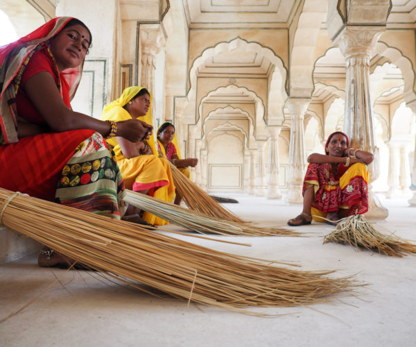 Sweepers at the Amber Palace, Jaipur