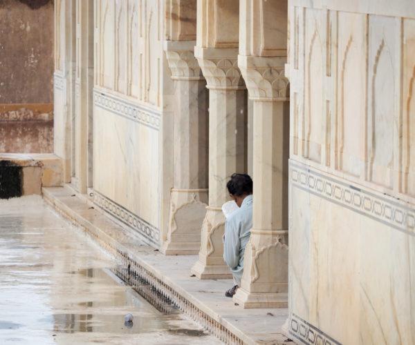 Carving at the Amber Palace, Rajasthan